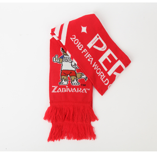 Custom 100%Acrylic Knitted Jacquard Football Team Soccer Fan Scarf