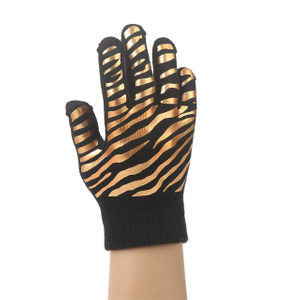 Winter custom acrylic knit gloves with printing