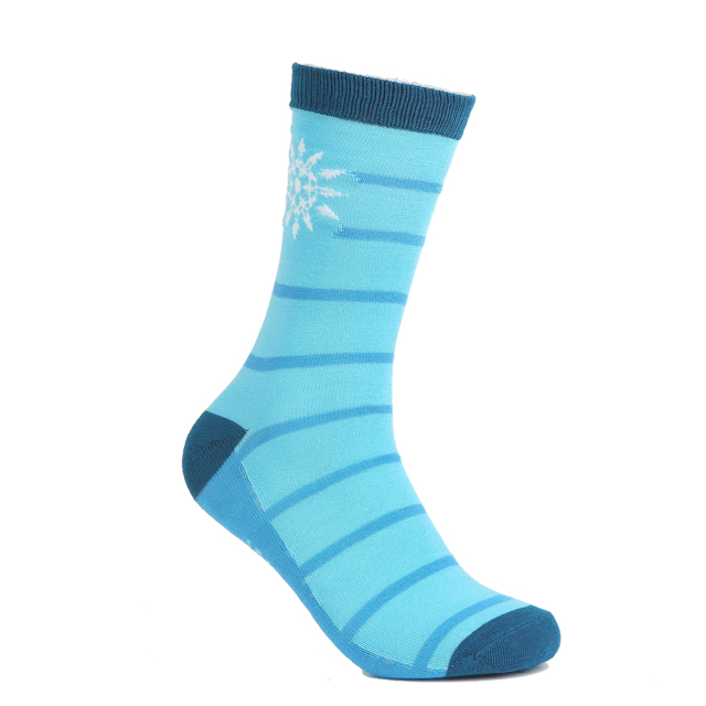 Polyester knit custom striped color socks