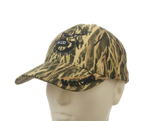 Camo Embroidery on Bill Baseball cap